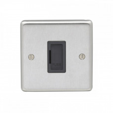 Eurolite Satin Stainless 13A Unswitched Fuse Spur SSSUSWFB
