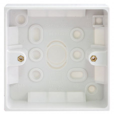 BG Electrical 901 White Moulded Surface (Pattress) Box Single 1 Gang
