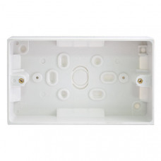 BG Electrical 902 White Moulded Surface Pattress Box Double 2 Gang