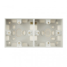British General BG Electrical 909 White Moulded Surface (Pattress) Box Double 2 Gang