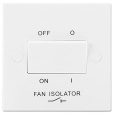 BG Electrical 915W White Moulded Fan Isolator Switch Triple Pole