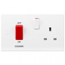 British General BG Electrical 971 Cooker Control Unit 45A With Switched 1 Gang Socket