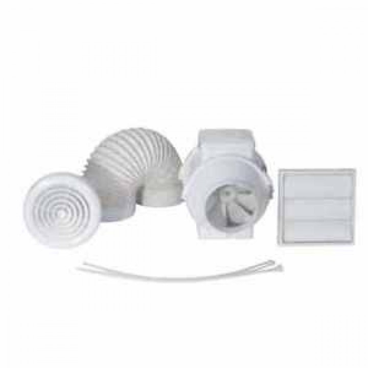 Airflow - Aventa 4 Inch In line Duct Extractor Fan with Timer