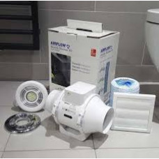 Airflow Aventa AV100T LED Extractor Fan Light Shower Kit