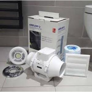 Airflow Aventa AV100T LED Extractor Fan Light Shower Kit