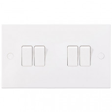 BG Electrical 944 White Light Switch 10 Amp 4 Gang 2 Way