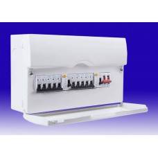 BG 10 Way Metal Dual Split Consumer Unit