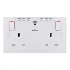 British General BG 922UWR 13 Amp Twin Switched Socket  with WiFi Extender + USB Charger