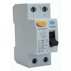 BG Electrical CUR6330 Double Pole Type AC Residual Current Device RCD