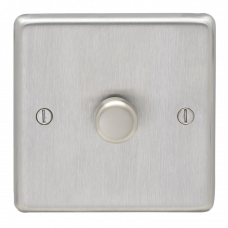 Eurolite Satin Stainless 1Gang Led Dimmer Switch SSS1DLED