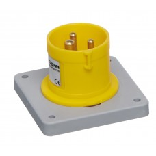 IP44 APPLIANCE INLET PANEL MOUNT 110V 2P+E 16A 4h