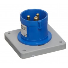 IP44 APPLIANCE INLET PANEL MOUNT 230V 2P+E 16A 6h