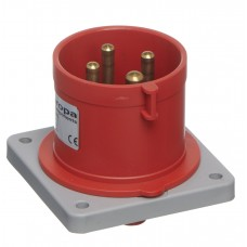 IP44 APPLIANCE INLET PANEL MOUNT 415V 3P+E 32A 6h