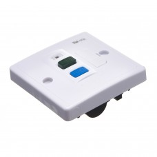 Europa Components 13A Single RCD Spur Outlet
