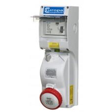Europa Components IP65 ENC INTLOCK SOCKET RCD 5P 400V 16A