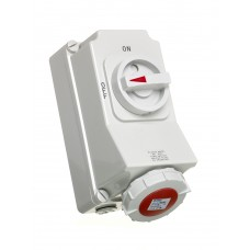 Europa Components IP67 ENC INTLOCK SOCKET 5P 415V 16A