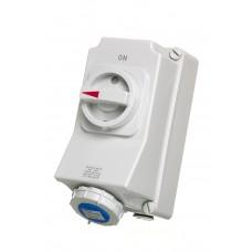 Europa Components IP67 ENC INTLOCK SOCKET 3P 230V 32A