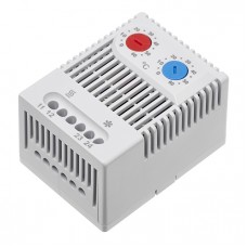 Europa Components Dual Thermostat 0-60°C N/O - N/C Used for both Cooling & Heating