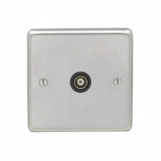 Eurolite Satin Stainless  1Gang TV Outlet SSS1TVB